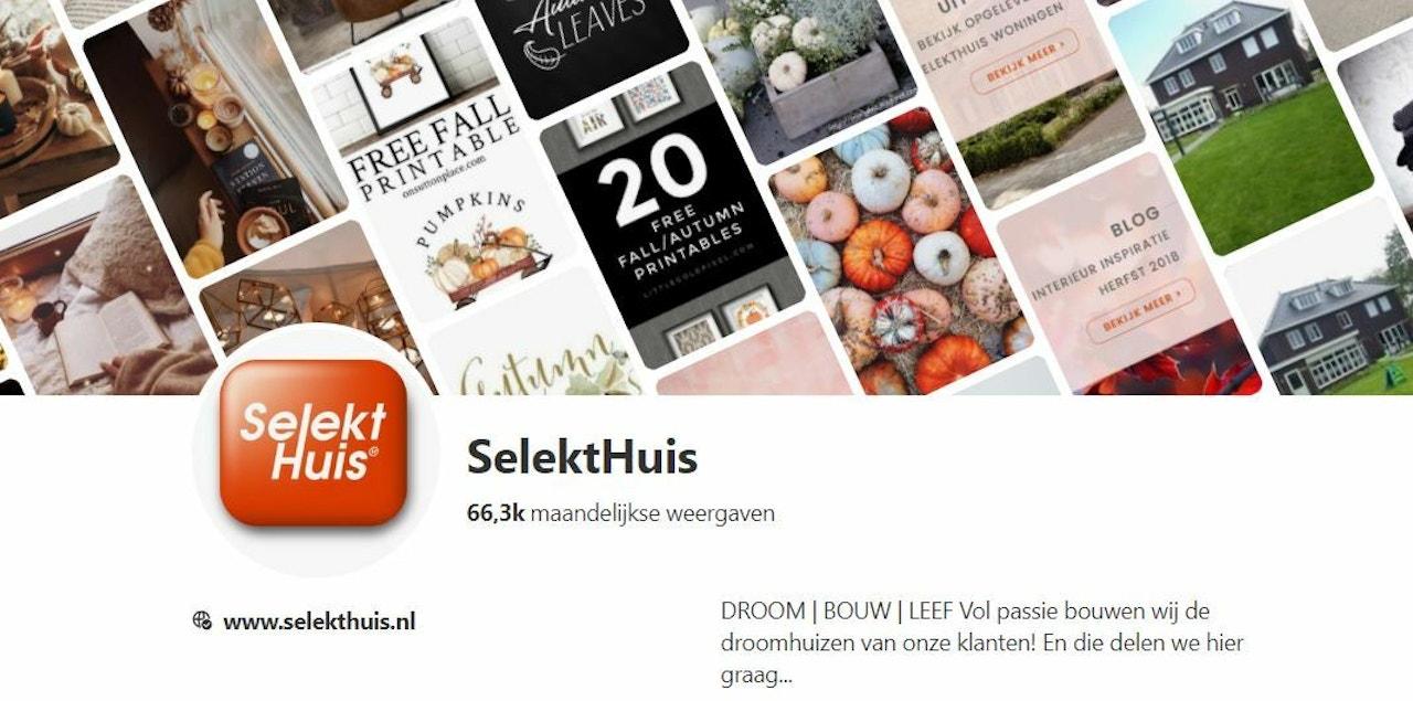 Pinterest account van SelektHuis