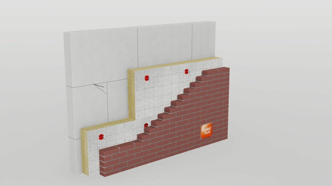 Een visualisatie van de thermische schil om een woning