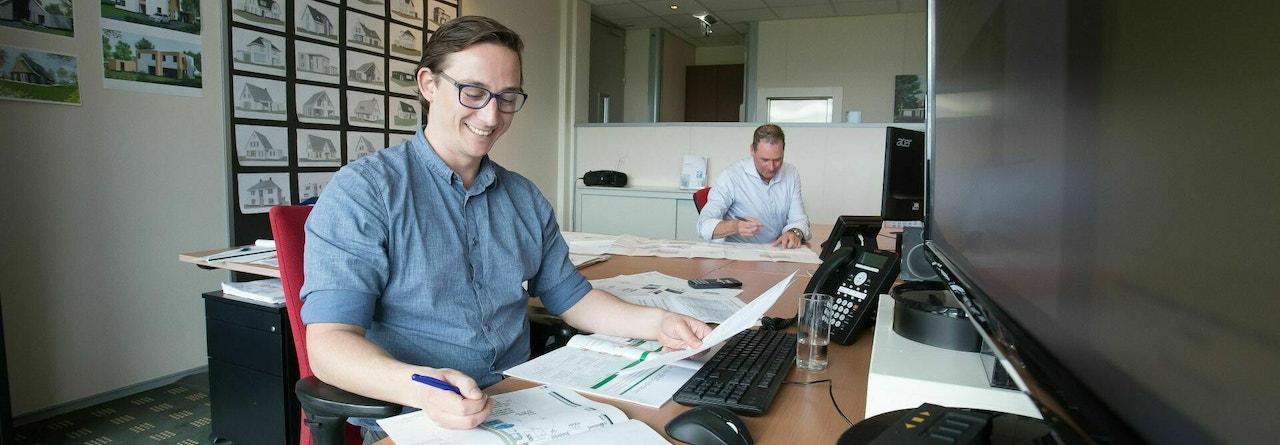 Werkplek van onze eigen energie specialist Michel