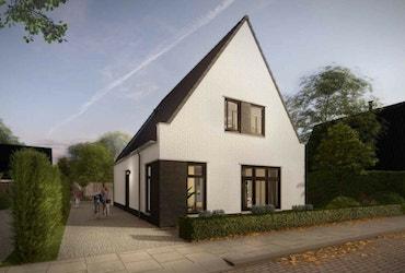 Vooraanzicht van een WinWin woning met landelijk-moderne bouwstijl